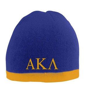 Alpha Kappa Lambda Two Tone Knit Beanie