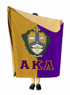 Alpha Kappa Lambda Two Tone Two Tone Sherpa Lap Blanket
