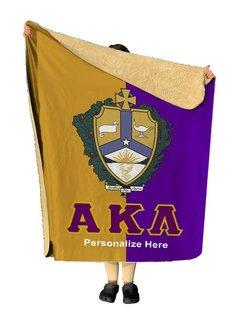 Alpha Kappa Lambda Two Tone Sherpa Lap Blanket