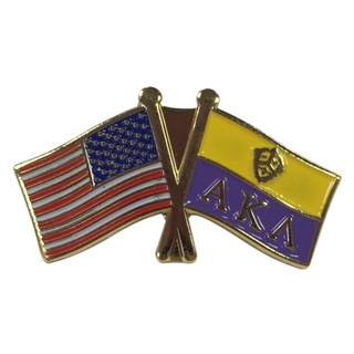 Alpha Kappa Lambda USA Flag Lapel Pin