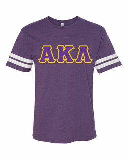 Alpha Kappa Lambda World Famous Greek Twill Football Fine Jersey Tee