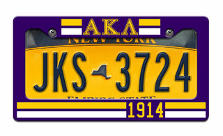 Alpha Kappa Lambda Year License Plate Frame