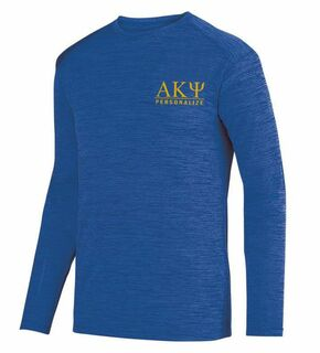 Alpha Kappa Psi- $26.95 World Famous Dry Fit Tonal Long Sleeve Tee