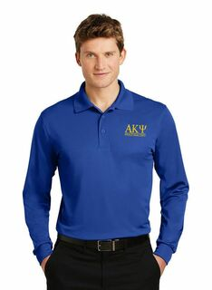 Alpha Kappa Psi- $35 World Famous Long Sleeve Dry Fit Polo