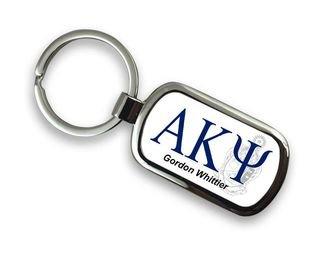 Alpha Kappa Psi Chrome Crest - Shield Key Chain