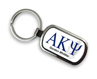 Alpha Kappa Psi Chrome Crest - Shield Key Chain
