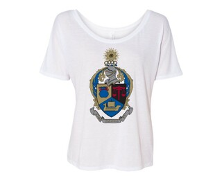 Alpha Kappa Psi Color Crest Flowy Tee