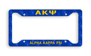 Alpha Kappa Psi Custom License Plate Frame
