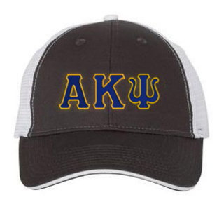Alpha Kappa Psi Double Greek Trucker Cap