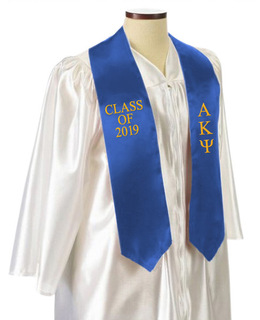 Alpha Kappa Psi Embroidered Graduation Sash Stole
