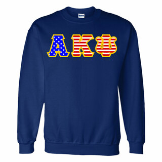 Alpha Kappa Psi Greek Letter American Flag Crewneck