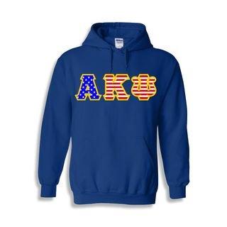 Alpha Kappa Psi Greek Letter American Flag Hoodie