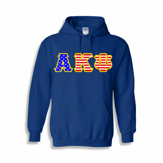Alpha Kappa Psi Greek Letter American Flag Hoodie