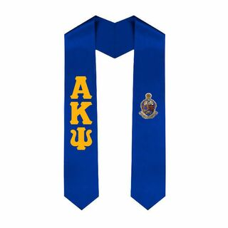 Alpha Kappa Psi Greek Lettered Graduation Sash Stole With Crest
