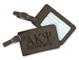 Alpha Kappa Psi Leatherette Luggage Tag