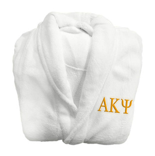 Alpha Kappa Psi Lettered Bathrobe