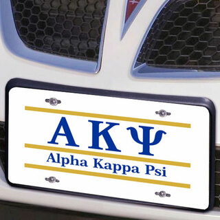 Alpha Kappa Psi Lettered Lines License Cover