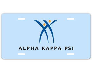 Alpha Kappa Psi Logo License Plate