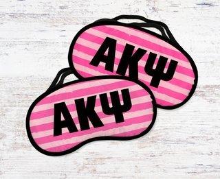 Alpha Kappa Psi Pink Stripes Eye Mask