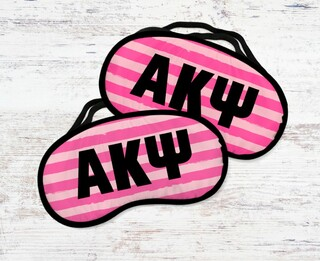 Alpha Kappa Psi Pink Stripes Eye Mask