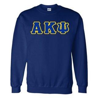 Alpha Kappa Psi Sewn Lettered Crewneck Sweatshirt
