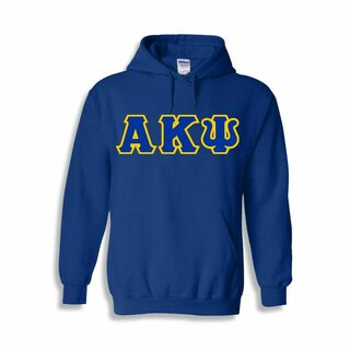 Alpha Kappa Psi Sewn Lettered Hooded Sweatshirts