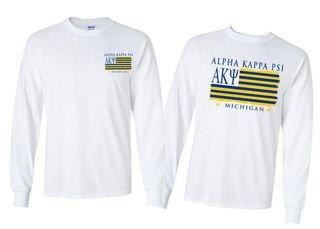 Alpha Kappa Psi Stripes Long Sleeve T-shirt