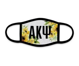 Alpha Kappa Psi Sunflower Face Mask