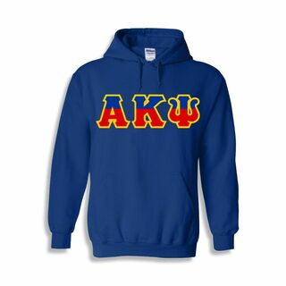 Alpha Kappa Psi Two Tone Greek Lettered Hooded Sweatshirt