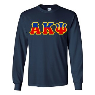 Alpha Kappa Psi Two Tone Greek Lettered Longsleeve Tee