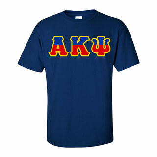 Alpha Kappa Psi Two Tone Greek Lettered T-Shirt