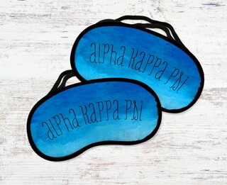 Alpha Kappa Psi Watercolor Eye Mask