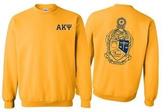 Alpha Kappa Psi World Famous Crest - Shield Crewneck Sweatshirt- $25!