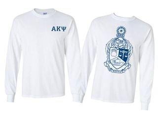 Alpha Kappa Psi World Famous Crest - Shield Long Sleeve T-Shirt- $19.95!
