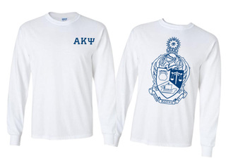 Alpha Kappa Psi World Famous Crest - Shield Long Sleeve T-Shirt- $19.95!