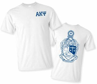 Alpha Kappa Psi World Famous Crest - Shield Tee- $14.95!