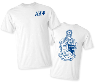 Alpha Kappa Psi World Famous Crest - Shield Tee