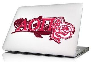 Alpha Omicron Pi 10 x 8 Laptop Skin/Wall Decal