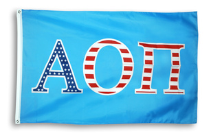 Alpha Omicron Pi 3 X 5 USA Flag