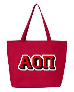 Alpha Omicron Pi 3D Letter Tote Bag