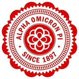 "Alpha Omicron Pi 5"" Sorority Seal Bumper Sticker"