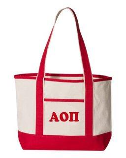 Alpha Omicron Pi Sailing Tote Bag