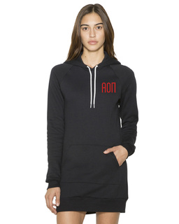 Alpha Omicron Pi American Apparel Flex Fleece Hooded Dress