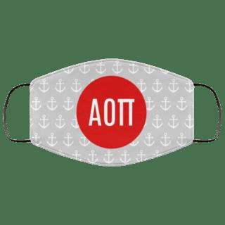 Alpha Omicron Pi Anchors Face Mask
