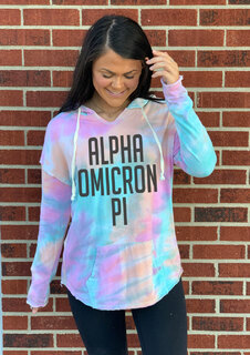 Alpha Omicron Pi Angel Terry Rainbow Sherbet Nora Pullover