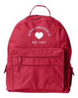 DISCOUNT-Alpha Omicron Pi Mascot Backpack