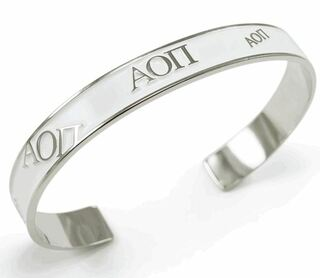 Alpha Omicron Pi Bangle (White)