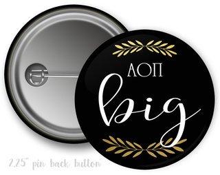 Alpha Omicron Pi Big Button