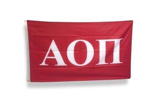 Alpha Omicron Pi Big Greek Letter Flag