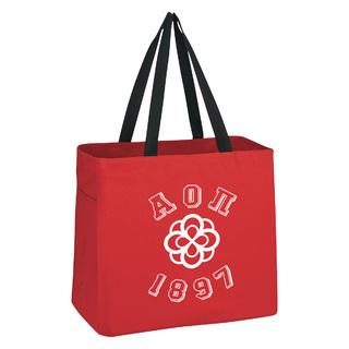 Alpha Omicron Pi Block Crest - Shield Cape Town Bag